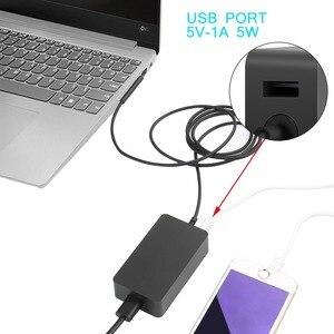 Image 5 - 15v 2.58a 44w adaptador de alimentação para microsoft surface portátil pro 3 pro 4 pro 5 2017 livro carregador ac com dc 5v 1a usb carregador