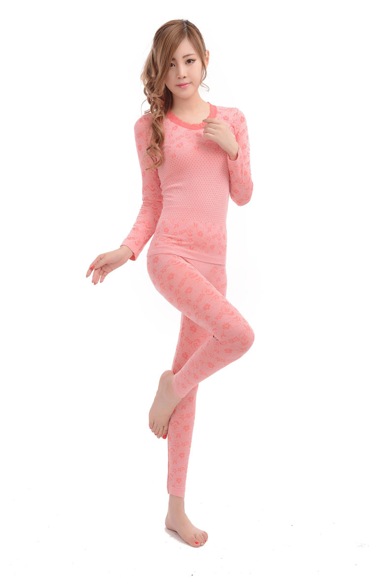 The new 2013 thermal underwear wholesale Long Johns suit thin body sexy lady thermal underwear
