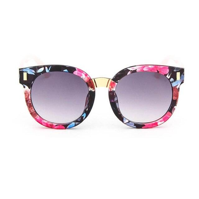 4a80bdf19b420b 2017 Koreaanse Kids Zonnebril Jongens Meisjes Leuke Uv Kleurrijke Modieuze  Zonnebril Vintage Ronde Zonnebril Merk Oculos