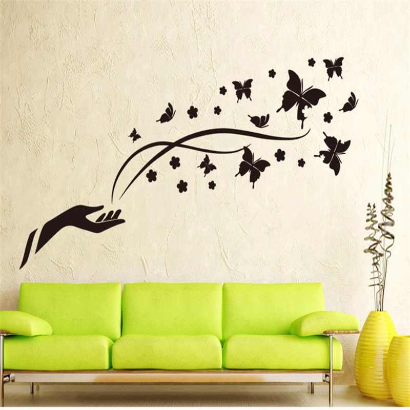 Дизайн стен с картинками наклейки