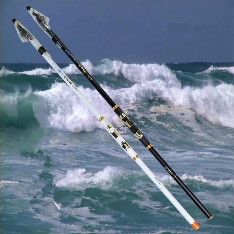 HighQuality Carbon Fiber Rock Fishing Rod Fishing Pole Super hard Locatable Lure Rod Pole Fishing Tackle 3.6/4.5/5.4/6.3/7.2m купить