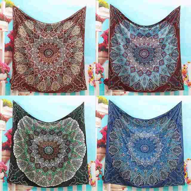 Bohemian Throw Blankets Inspiration Polyester Indian Mandala Tapestry 60x60cm Wall Hanging Bohemian