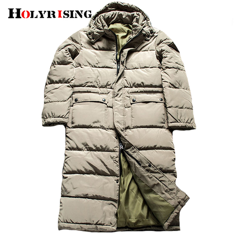Men Long Parkas hombre invierno Winter Jacket Men plus size Causal Parkas Cotton Padded Coats Men Thick jacket warm 18483-5 Islamabad