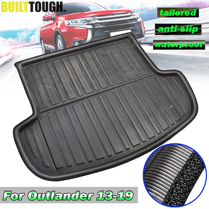 Fit For Mitsubishi Outlander 2013-2020 Rear Trunk Liner Boot Cargo Mat Tray Floor Carpet Mud Kick Protector 2014 2015 2016