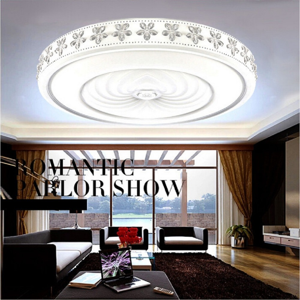 Excelvan 38W Round Ceiling Lights with WIFI Music Infinite Dimming ...