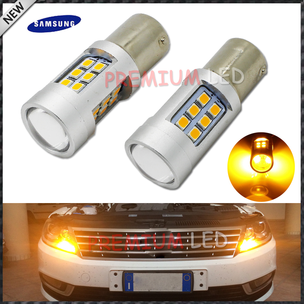 iJDM High Power Amber Yellow Error Free 21SMD-2835 LED BAU15S 7507 PY21W 1156PY LED Bulbs For Front Turn Signal Lights,7507 LED ijdm no hyper flash 21w high power amber bau15s 7507 py21w 1156py led bulbs for car front or rear turn signal lights canbus 12v