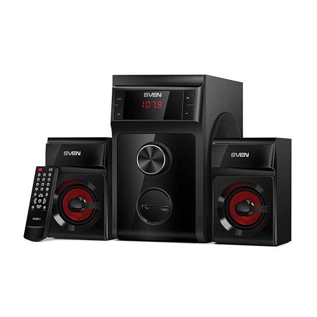 Колонки 2.1 ( с сабвуфером) AC MS -302, черный (40 Вт, FM-тюнер, USB/SD, дисплей, ПДУ)