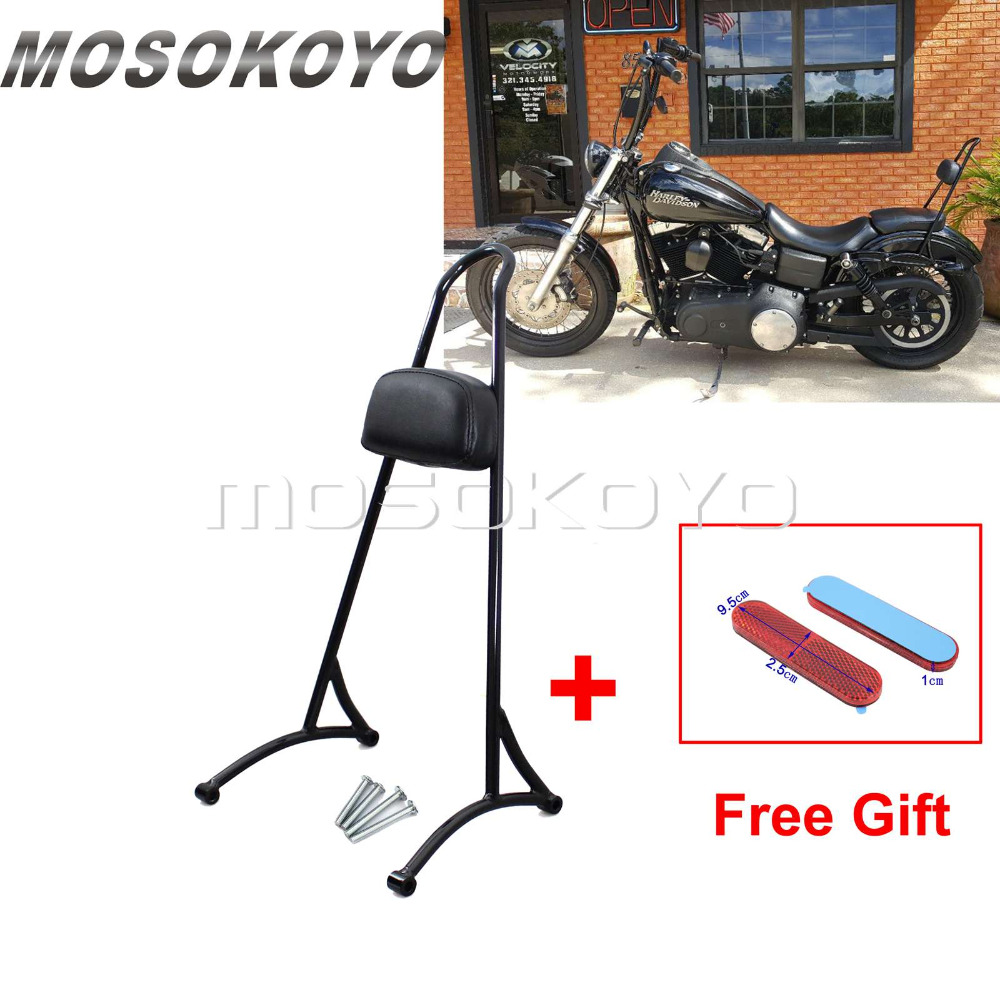 Black Motorcycle 20 Tall Sissy Bar Backrest for Harley Sportster XL 883 XL 1200 2004 2017
