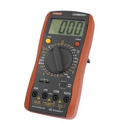 Black Red Electrical Meter Digital Multimeter w 2 Test Leads [randomtext category=