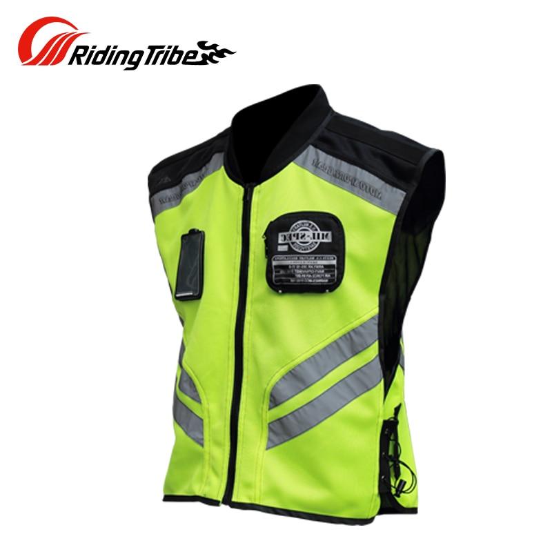 Riding Tribe Motorcycle Reflective Vest Motorbike Safty Clothes Moto Warning High Visibility Jacket Waistcoat Team Uniform JK-22