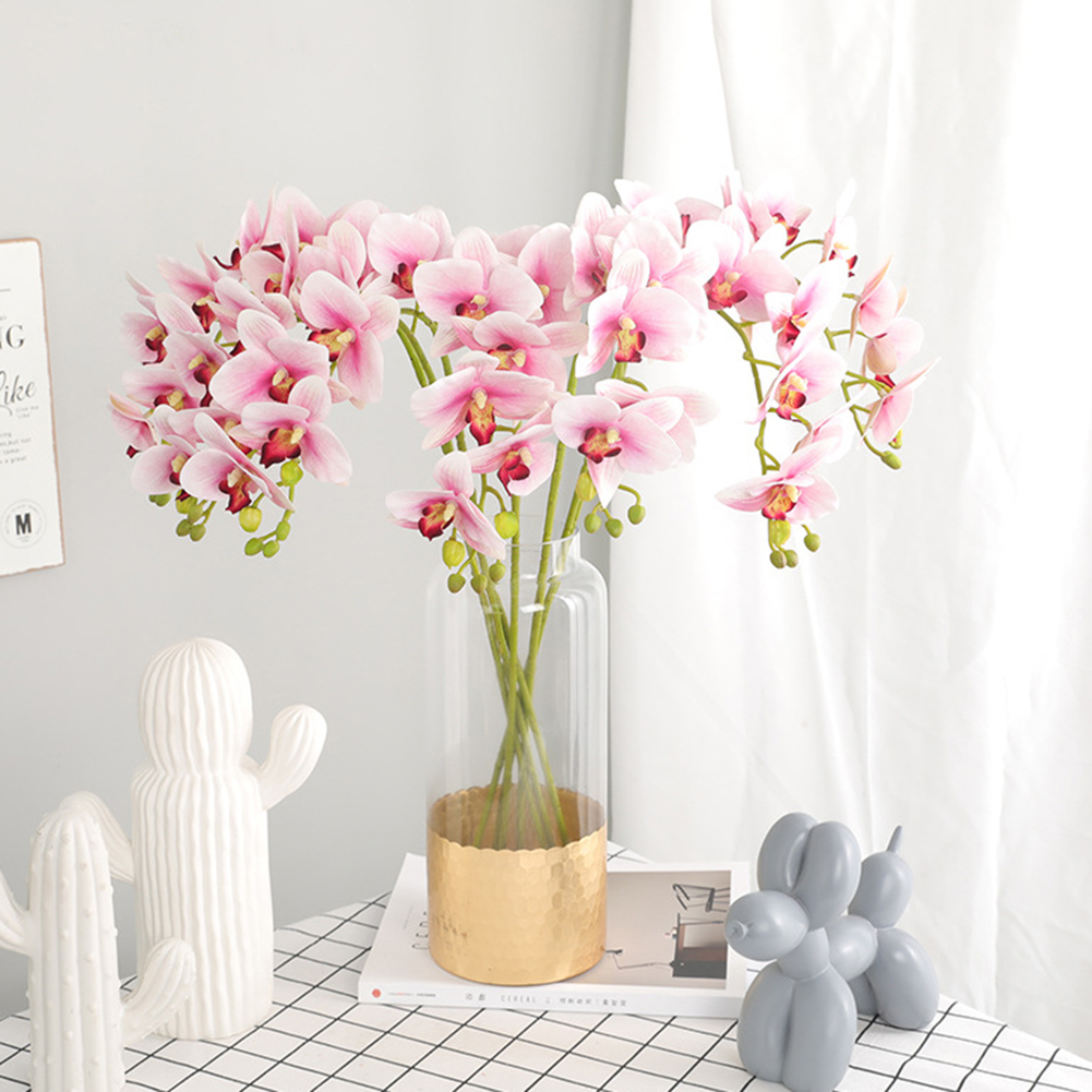 70CM Artificial Orchid Flower Real Touch Latex Wedding Decoration Orchid Arrangement Fake Flower for Party DIY Home Office Decor