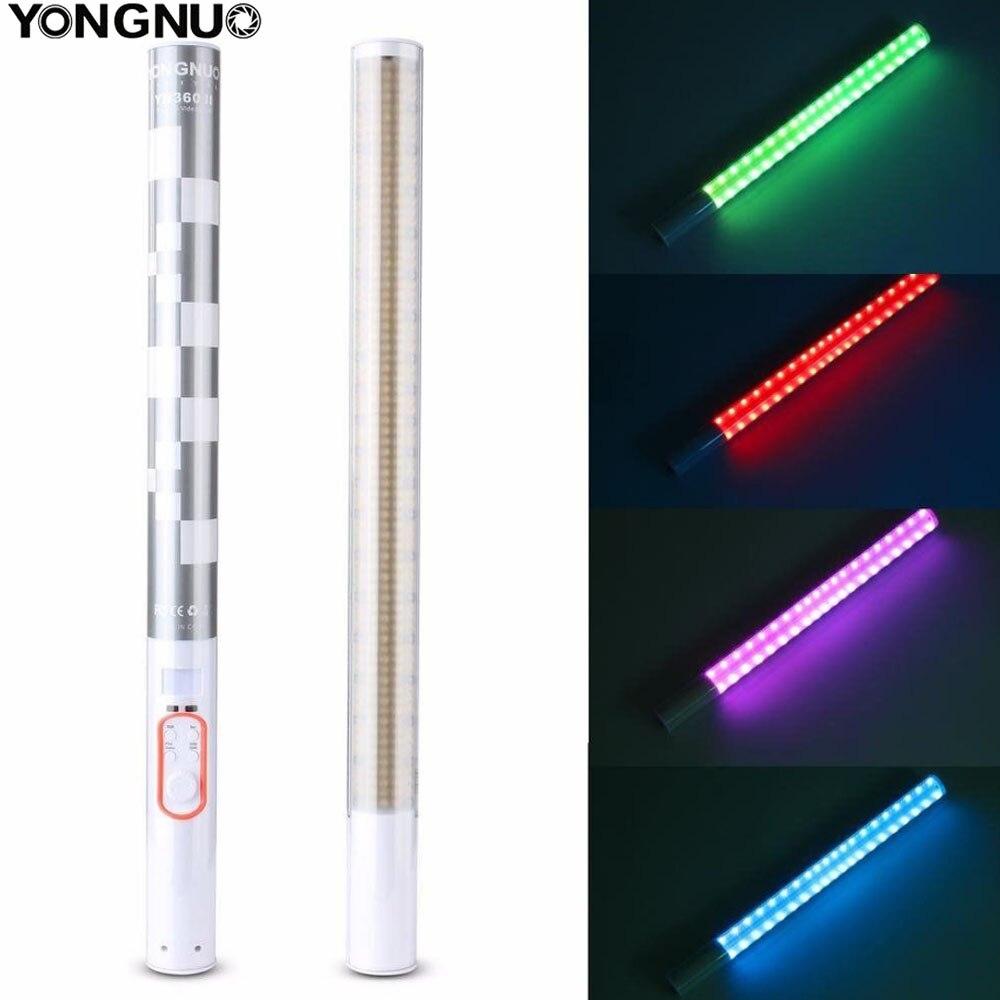 YONGNUO YN360II YN360 II LED Vidéo Lumière De Poche Bâton de GLACE Photo lampe Bicolor 3200 k-5500 k avec RGB contrôlée par Téléphone APP