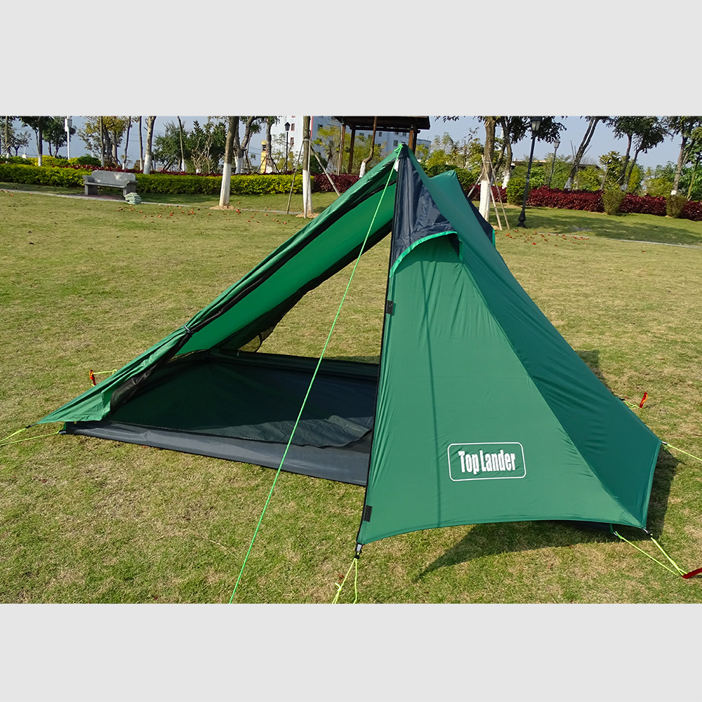 Vinqliq 2-3 Person Double Layer Water Wind Proof Camping Tent 3 Season Aluminum