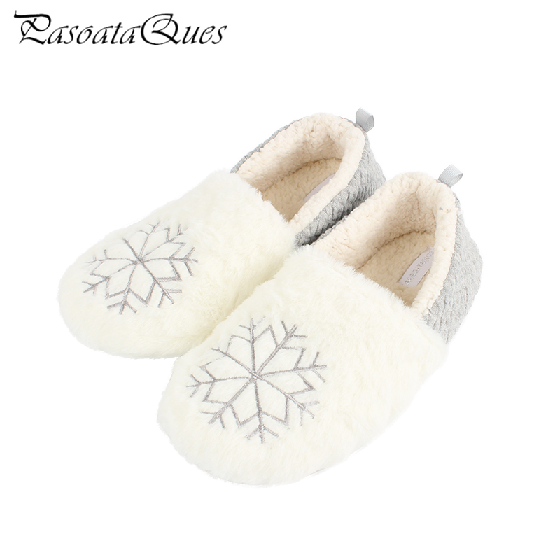 Sweet Comfortable Snowflake Flock Women Slippers Cute Warm Non-slip Breathable Indoor Women Home Shoes Pasoataques Brand 1825 new spring cute women slippers breathable comfortable soft house indoor home women shoes pasoataques brand