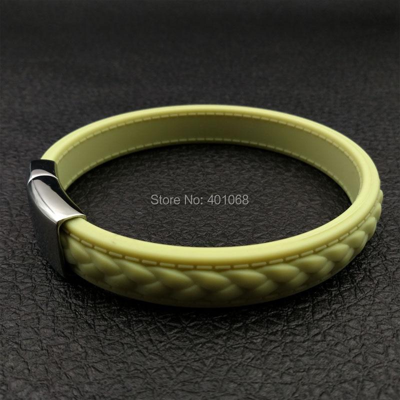 colorful Power 1500-2000 ions Fashion faux fur lines negative ion energy bracelets