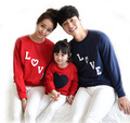 New arrival 2017 Family family matching clothes Mom/Dad/Baby Love Long-Sleeve Cotton T shirts spring/autumn Family Clothing
