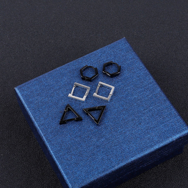 1PC Fashion Square Hexagon Triangle Stainless Steel Ear Earrings HipHop Earrings Titanium Tteel Man Earrings Jewelry.jpg 640x640 - 1PC Fashion Square Hexagon Triangle Stainless Steel Ear Earrings HipHop Earrings Titanium Tteel Man Earrings Jewelry Accessories