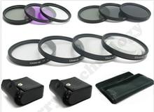 62MM Macro Close Up Set + UV CPL FLD/ ND 2 4 8 Filter Kit for Canon & Nikon DSLR