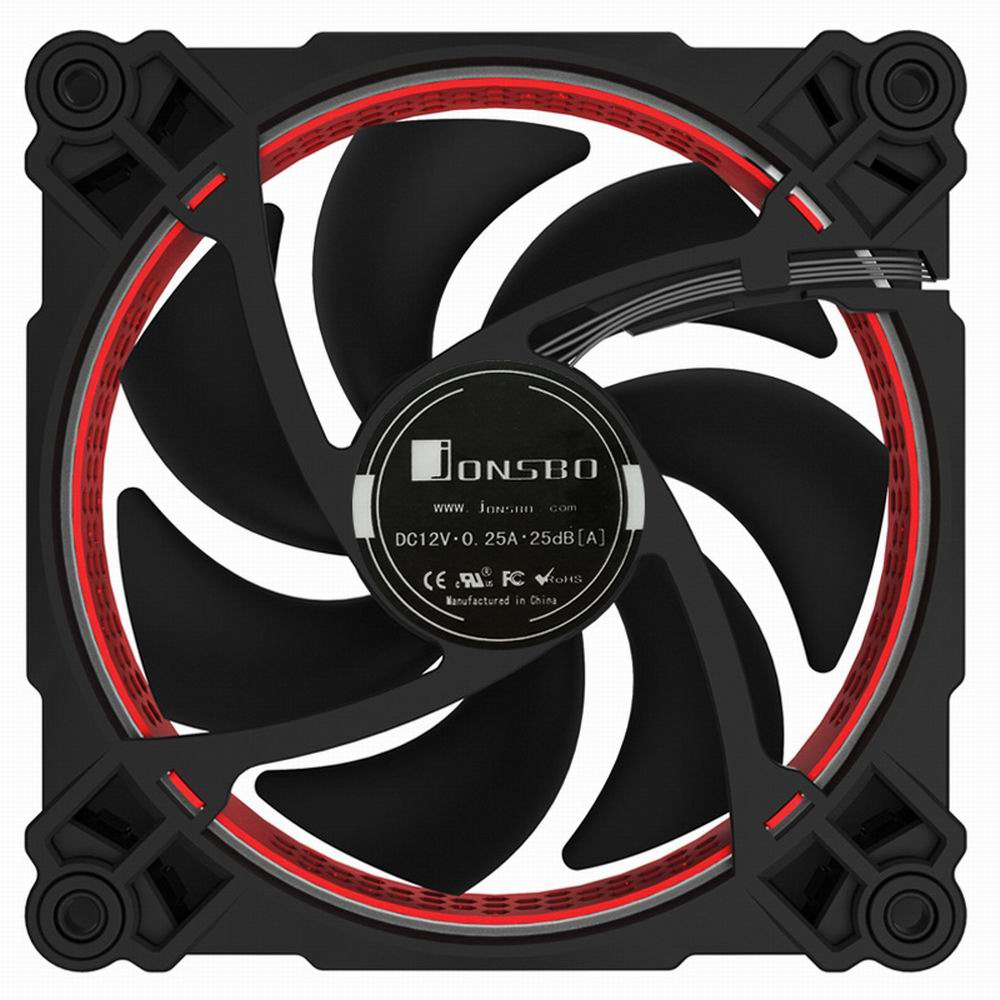 1 piece Jonsbo FR-201P 120mm PC Case cooler CPU Fan Radiators Computer Cooling Fan LED Light 4pin PWM for Intel AMD DIY  MOD jonsbo cr 201 4 cpu 12cm heat pipe radiator side led fan