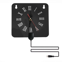 Indoor Digital TV Antenna Alarm Clock Style with Signal Amplifier Booster Receive Free Towers Broadcast HDTV Antenna