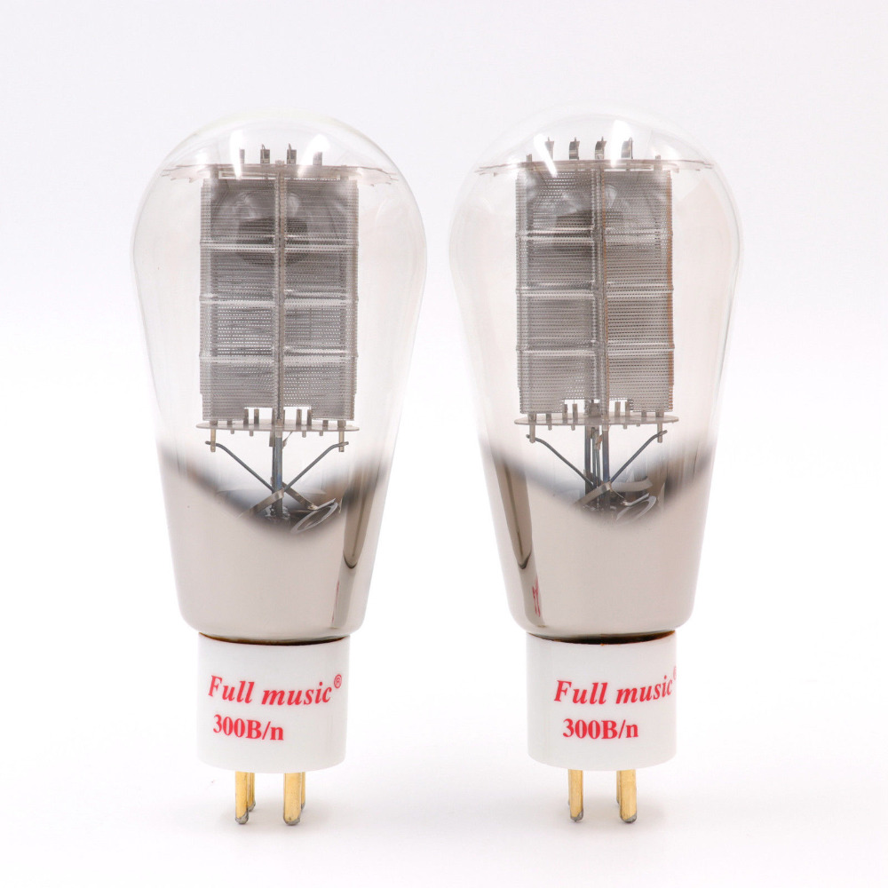TJ Fullmusic 300B/n Vacuum Tube Mesh Plate Replace EH 300B Tubes For Vintage Hifi Audio Tube Amplifier DIY Factory Matched Pair