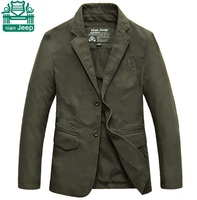 NianJeep 3XL 4XL Real Men S Purified Cotton Double Button Solid Sports Blazers Good Quality Casual
