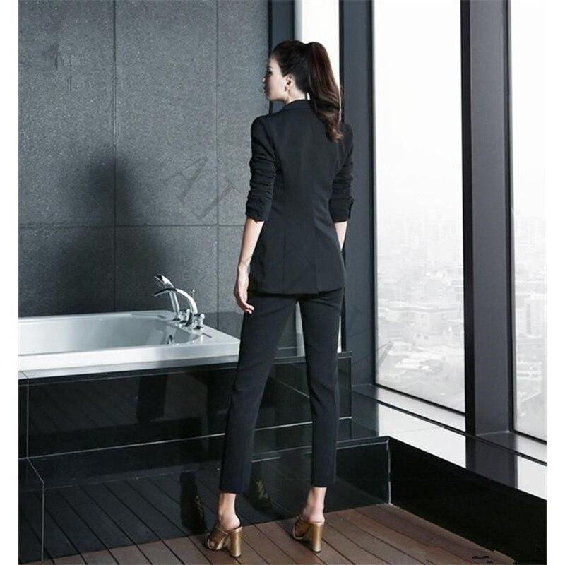 office styles. Nieuwe Zwart Wit Broek Past Vrouwen Casual Office Uniform Styles Dames Elegante Pakken Formele Werk Pak In I