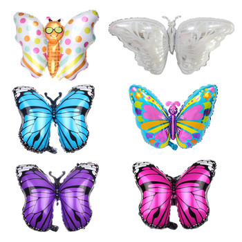 New Large Butterfly Foil Balloon for Baby Shower Kids Girl Birthday Jungle Party Decoration Inflatable Air Balloon Animal Globos balloon and butterfly бежевое платье с драпированным подолом сorinne
