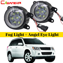 Cawanerl For Suzuki Grand Vitara 2/II Closed Off-Road Vehicle JT 2005-2015 Car LED Fog Light Angel Eye Daytime Running Light DRL(China)