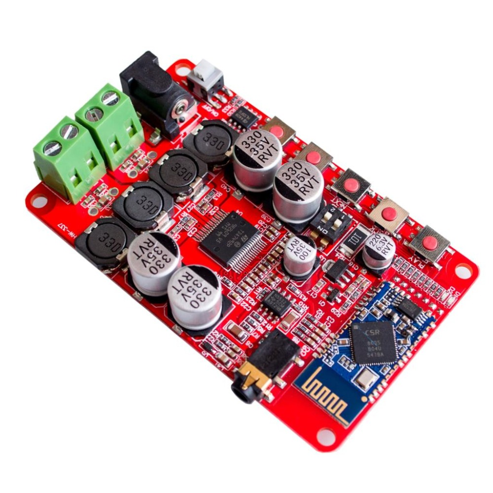 10pcs/lot Free shipping Wireless Bluetooth 4.0 Audio Receiver Digital TDA7492P 50W+50W Amplifier Board quality 10pcs lot lm1875t lm1875 to220 20w audio amplifier new original free shipping