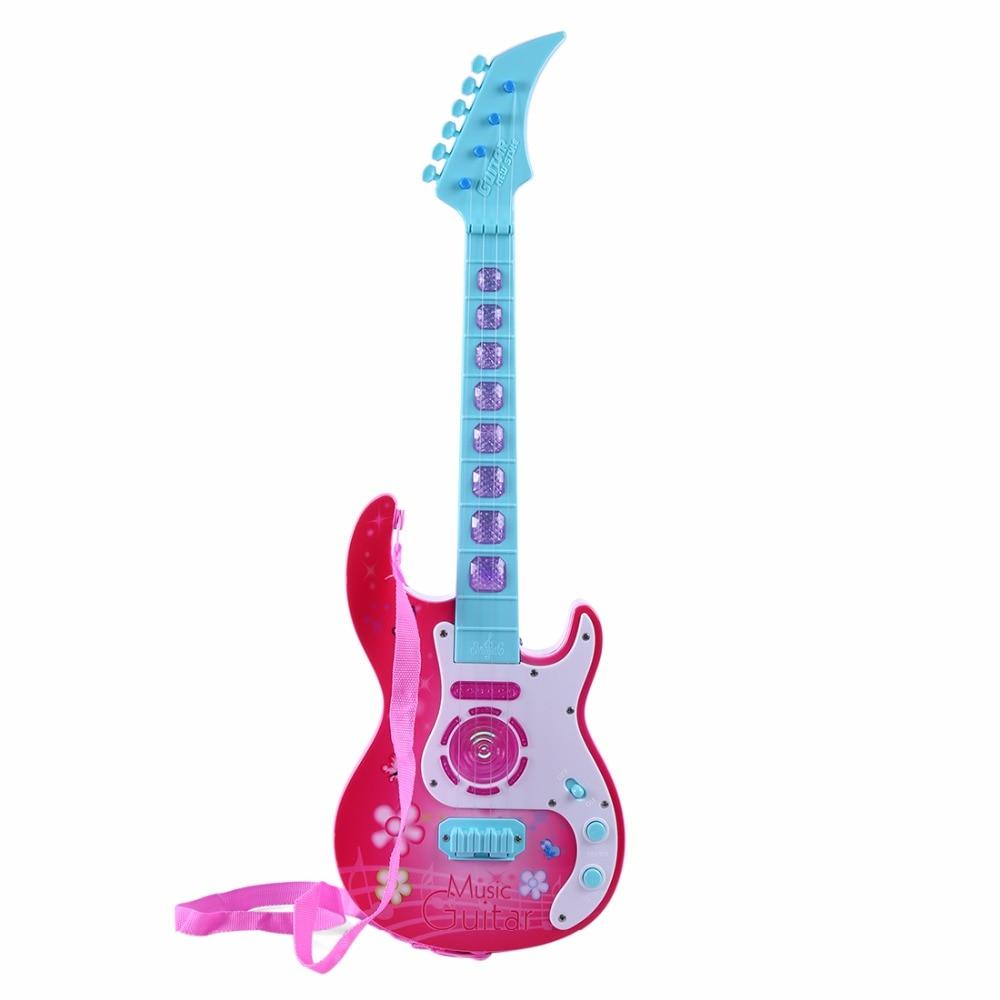 Pop 4 Cordes Guitare Simulation Ukulélé Enfants Bébé Éducatifs Sagesse Développement Cadeau Enfants Musical Instrument Jouets Cadeaux