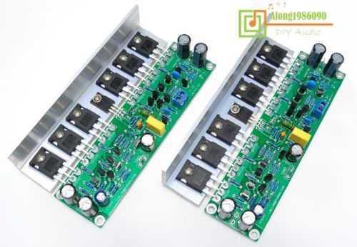 ФОТО sep-store Assembled MOSFET power amplifier board with Angle aluminum (2 boards) L155-36 Z