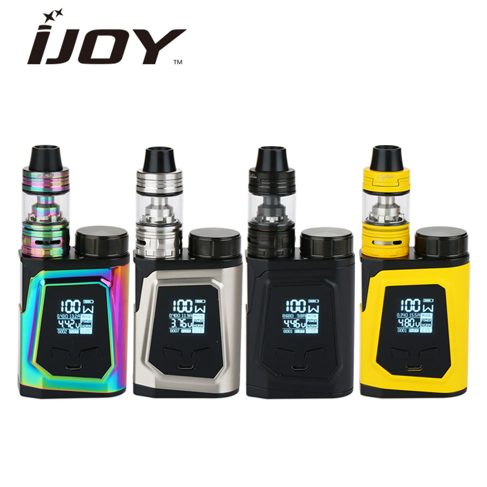 100W Original IJOY CAPO 100 TC Kit with 3.2ml Captain Mini Tank Max 100W Output 3750mAh 21700 Battery Huge Power E-cig Box Kit 100% original 225w ijoy captain pd1865 tc vape kit with 4ml captain tank atomizer