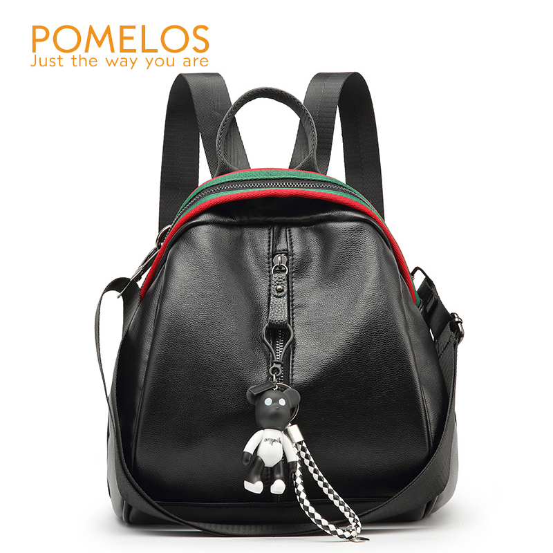 POMELOS 2018 New Fashion Women Leather Backpack Small Back Pack Rucksack Female Ladies Travel Back Bag Bagpack Women Backpacks
