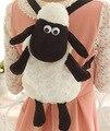 2016 Dos Desenhos Animados Hot Shaun The Sheep Plush Mochilas Kawaii 25 cm 35 cm Shaun Ovelhas de Pelúcia Bicho de pelúcia Brinquedos para As Crianças Da Escola sacos