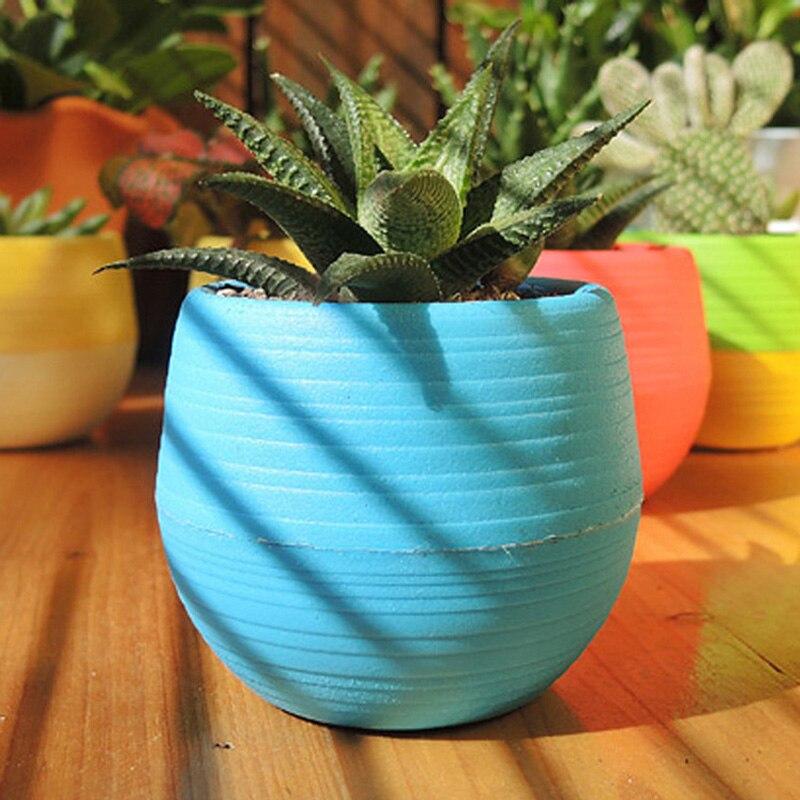 aliexpress.com : acquista colorato di plastica rotondo vaso di ... - Vasi Di Plastica Colorati Per Piante
