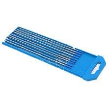 """2% Lanthanated 2,4x150 мм 3/3"""" x 6"""" WL20 синий TIG сварочный вольфрамовый комплект электродов 10"""