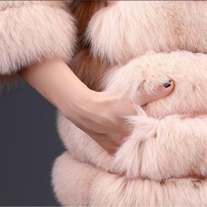 Image 5 - 여자의 새로운 천연 여우 모피 코트 분리형 모피 자켓 다기능 3 에서 하나의 가변 의류 따뜻한 패션 캐주얼 Eu