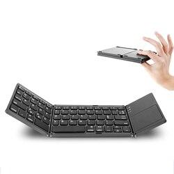 Przenośna składana składana klawiatura Bluetooth BT bezprzewodowa składana klawiatura Touchpad dla tabletu IOS / Android / Windows ipad