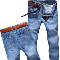 Summer New Men S Denim Trousers Slim Fit Casual Straight Jeans Thin Summer Classic Cotton Fabrics