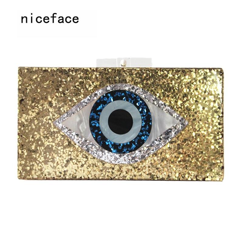 2017 new handbag brand fashion wallet women messenger bags golden eye patchwork lady luxury party prom