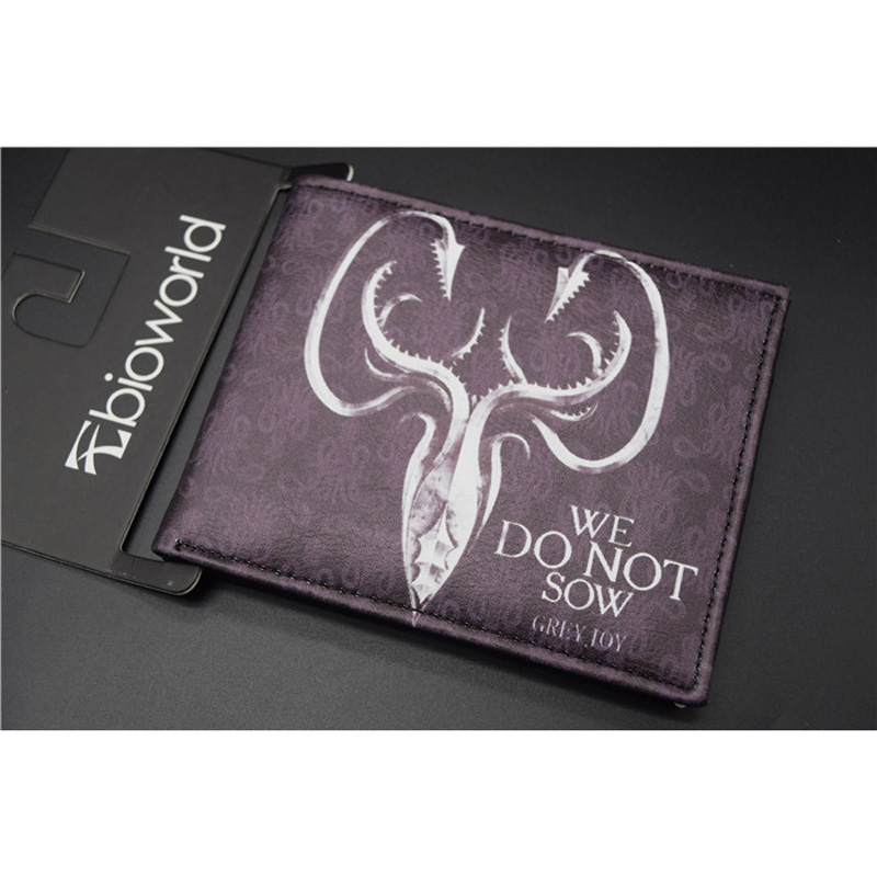 American TV Series Game of Thrones PU Wallet/Purse Printed w-The Badge of House Greyjoy (DCQB-3)
