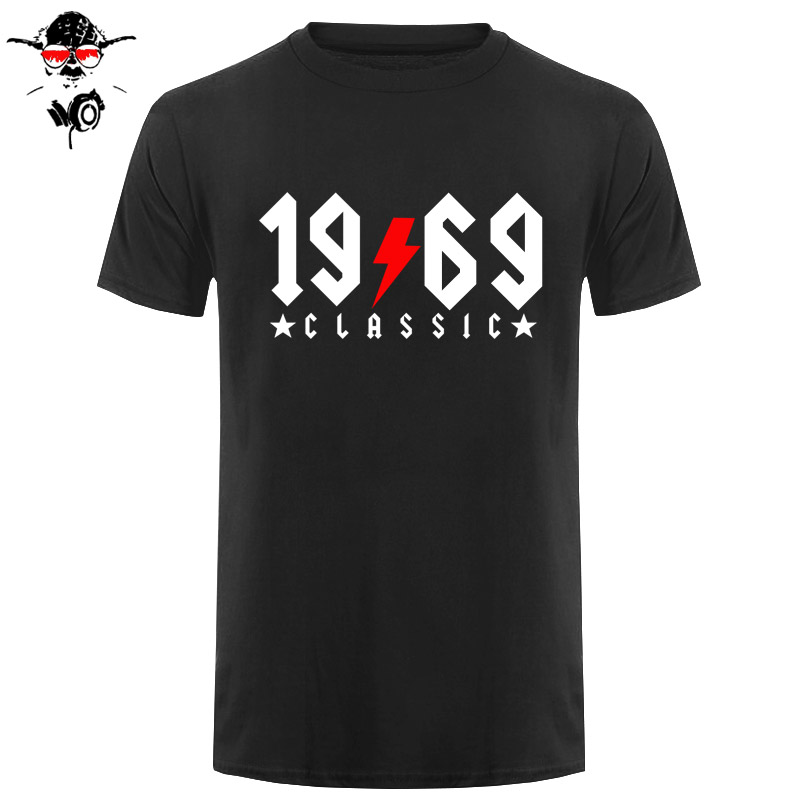 Vintage 1969 Classic 50 Years Old Flash Design T Shirts Men Dad 50nd Birthday 1969 T-shirts Fatherday Gift Retro Tshirt