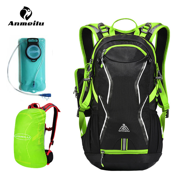 ANMEILU 2L TPU Portable Outdoor Water Bag Sport Hydration Bladder Bike Camping Cycling Hiking Backpack Pack Mochila Ciclismo