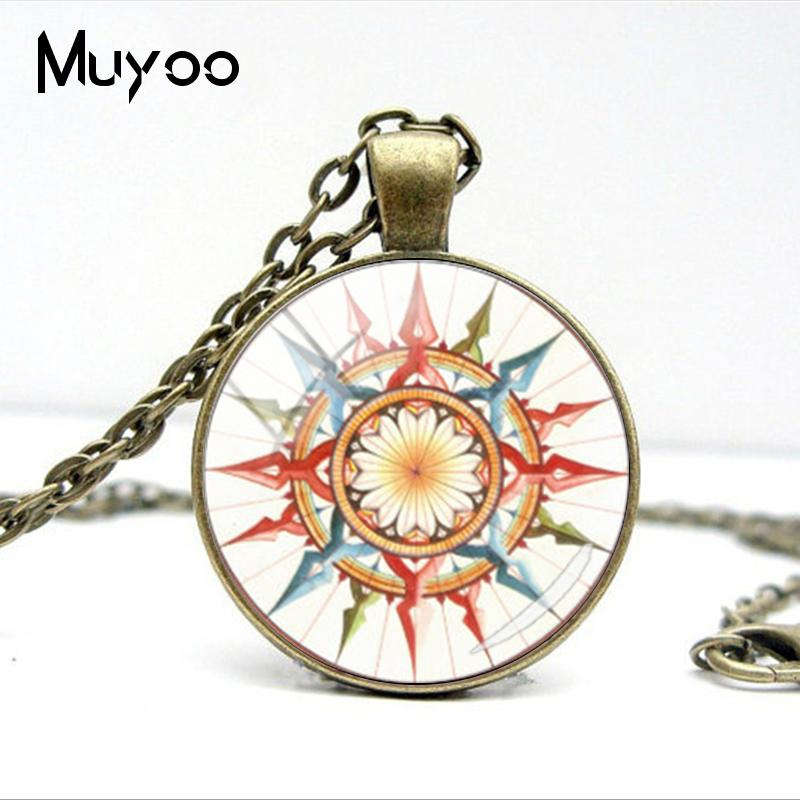 HTB1KvsdV7voK1RjSZFwq6AiCFXaJ - Vintage Old Compass Rose Steampunk Style Glass Cabochon Pendant Necklaces Glass Color Compass Jewelry Nacklace Gifts