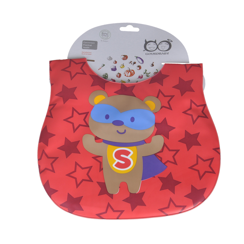 Mother Nest Baby & Kids Cute Cartoon Waterproof Bandana Silicone Children Baby Bibs Boys Girls Infants Burp Clothes Feeding Care (4)