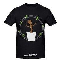 RTTMALL Top Quality Comfortable Guardians of the Galaxy Mens Tshirt CrewNeck dancing baby groot T-shirts Print Cartoon for Guys