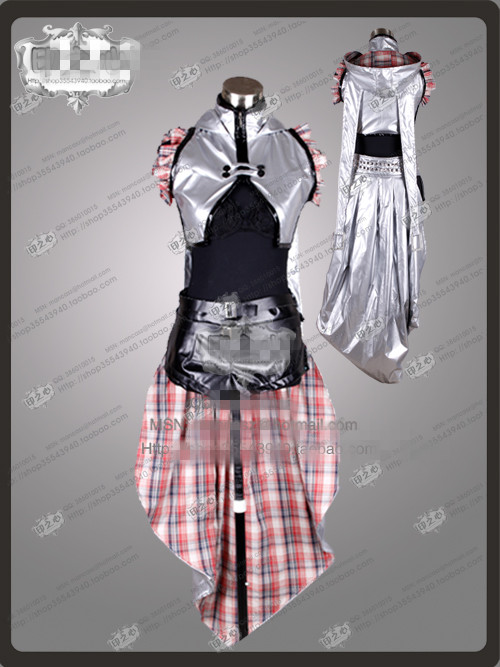 Vocaliod TYPE-H Band Kagamine Rin Len Uniform Suit Party Fashion Dress Skirt Cosplay Costume Any Size