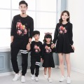 2016 Family Matching Outfits Autumn Family Look Matching Clothes Mother Daughter Printing Dress Mother and daughter clothes XXL