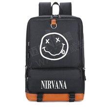 799c47a077485 2018 NIRVANA Smiley KURT COBAIN rock In Utero rucksack teenager frauen  Schüler Schultasche travel Umhängetasche Laptop tasche